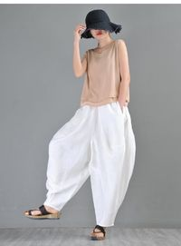 Linen harem pants, White harem pants women, Drop crotch Pants, Elephant pants, Kappa pants, Larp pants, Aladdin pants, palazzo pants