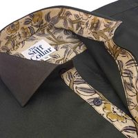Olive Green Satin Kalamkari Cotton Shirt �'�1499.00