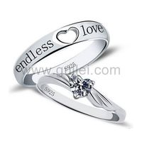 Gullei.com Endless Love Promise Rings with Custom Engraving Cubic Zirconia