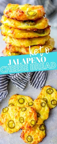 4 Ingredient Keto Jalapeno Cheese Bread �‹† Sweet C's Designs
