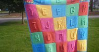 Alphabet Blanket - I've made this in a single color. I <3, <3, <3 this blanket with the separate colors.