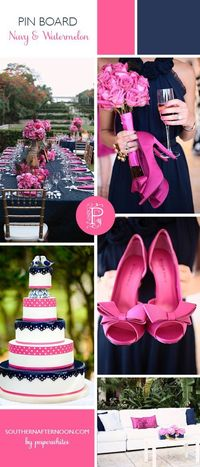 I love, love, love this color combo! So clean and fresh looking! Must have these colors for our wedding. :)
