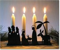 Nativity Advent Candleholder from Ingebretsen's in Minneapolis. One of my favorite stores for both decorations and food.