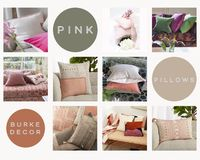 Burke Decors collection of decorative pink pillows is simply lovely. Grab it online today! https://www.burkedecor.com/collections/pink-pillows