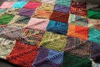 Patterns like the Knitted Patchwork Recipe are perfect for knitters who can't bring themselves to throw away yarn, no matter how small the scrap.