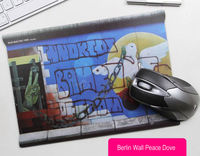 Berlin Wall Peace Dove Pattern Mouse Pad - feelgift.com