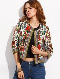 Tribal Print Vintage Outwear Embroidered Coat $32.99