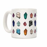 Watercolor Crystal Pattern Ceramic Coffee Mug $14.99 �œ� Handcrafted in USA! �œ� Support American Artisans