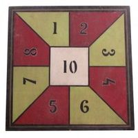 Unusual Graphic Game Board from a Traveling Circus c. 1930