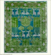 ��� Copyrights unknown. Arts and Crafts Rug (Craftsman style carpet), by The Persian Carpet, 100% wool.