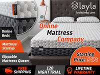 Buy Flippable two sided mattress at Layla Sleep at a competitive price. You can flip this memory foam mattress according to your requirement. Also get Free Shipping, Lifetime Warranty and 120 Nights Free Trail On Layla Sleep Mattresses!