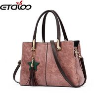 2018 new ladies handbag women leather handbags fashion tide shoulder bag pu handbags $39.98