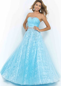 Blush 5411 Powder Blue Long Prom Dress