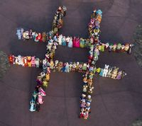 #hashtag Presenting the greatest hashtag to ever exist: thank you Disney! | Community Post: 140 Disney Characters Come Together To Create The World's Best Hashtag