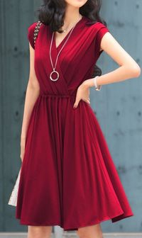 Cute Cheap V-neck plus size long dresses Wine Red - Sleeveless Online Shopping Free Shipping AHAI006606