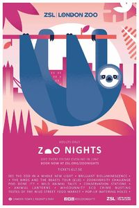 Zoo Nights are being promoted with a campaign, the identity for which was designed by independent brand strategist Claire Rigby and brand studio Edit