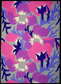 "Sidewall, ""Poppies"", 1912 Machine-printed on machine-made paper. designed by Paul Poiret and manufactured by Paul Dumas (France)"