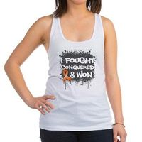 Leukemia I Fought and Won Racerback Tank Top