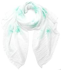 LL Owl Pattern Scarf Color-Blue $9.47
