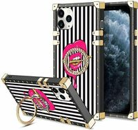 Pink Lips Bullet Case for iPhone 11 Pro Max 6.5 Inch 80's Retro Fashion Vintage
