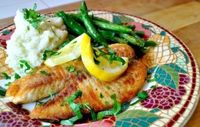 4-Minute Fish: Crispy, Lemon Tilapia - I added Garlic Powder to the mix. Even my non fish eating boys including hubby ate this. | Tasty Kitchen: A Happy Recipe Community!