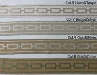 "Decorative trim ""Chain"", Sewing trim by the yard, modern decorative gimp CE29 for roman shades, cushions and panels, tape trim by the yard $17.00"