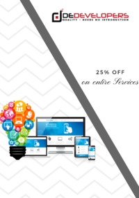 Do you want to design your website? DeDevelopers is the Best Option for you We Provide Logo Design, Business Cards, Website Templates, Website Designing & E-Commerce Websites with Best Quality. Get Up to 25% off on entires services. Visit for mor...