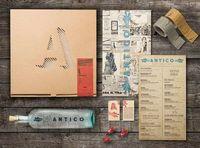 """""""Designed for Retail Branding class at Portfolio Center. Antico Pizza Napoletana serves authentic """"Pizza Tradizionale di Napli"""" in Atlanta, Georgia. Making each"""
