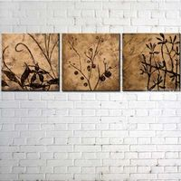 Still life Oil Painting On Canvas Set Of Three Hand Painted