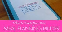 Over the next two weeks, we will be working on creating our own meal planning binder. You can read the first post HERE. Today, we will begin by learning ways to