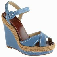 Christian Louboutin Blue Wedges Shoes