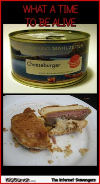 Funny cheeseburger in a can meme #funny #humor #meme #funnypictures #PMSLweb