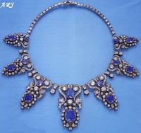 The original sapphire tiara in a necklace form