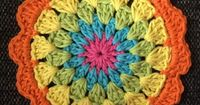 Free pattern - Colourful Easter Coasters