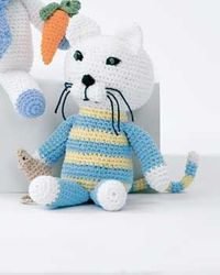 Crochet Cat and Mouse free crochet pattern