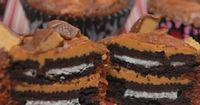 Oreo & Peanut Butter Brownie Cups