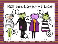 This download is for a Halloween Roll and Cover Game with 4 different game mats for games with 1 dice, 2 dice, 1 dice + 1 and 1 dice + 2.