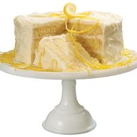 Lemon Layer Cake with Lemon Curd Filling and Lemon Buttercream Icing~T~ A nice Spring time cake.