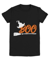 Witches Broom Boo Halloween Dark Youth T-Shirt $22.95