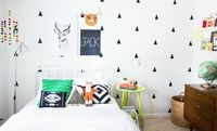 White walls with black decals from MUR