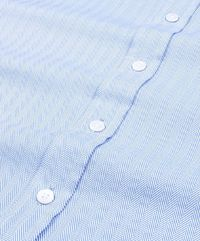 Blue Herringbone Premium 2 Ply Regular Fit Cotton Shirt �'�1048.00