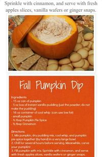 Nice fall dip ~ Thanksgiving appetizer ~ with apples, ginger snaps, vanilla wafers, pears..