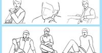 Sitting poses for men. Why does this chart exist?