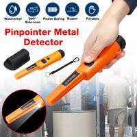 Full Waterproof Metal Detector Gold Hunter Finder Jewelry Digger With LED Light - Orange