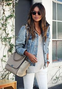 white jeans, denim jackets and jean jackets.