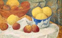 Paul Serusier > Apples with a Blue Dish, 1922