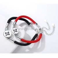 Engraved Button Bracelets Anniversary Gift for Him and Her https://www.gullei.com/engraved-button-bracelets-anniversary-gift-for-him-and-her.html