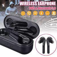Portable TWS Wireless Bluetooth 5.0 Earphone Heavy Bass Stereo Bilateral Calls Headphone with Charging Box