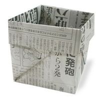 Fold a box from newspaper