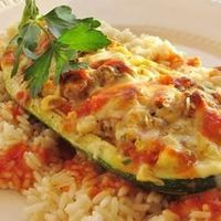Stuffed Zucchini | �€œMy husband said he felt like he was �€˜cheating on lasagna' with this. He was surprised at how good vegetables can be in place of pasta!�€